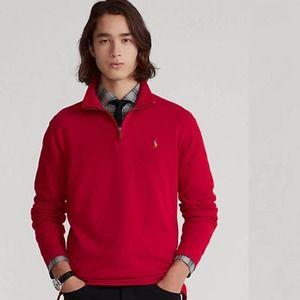 POLO Ralph Lauren Red Estate Rib Pullover Shirt XL